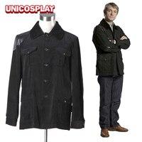 Sherlock Holmes Dr. John Watson Coat Cosplay Costume Black Jacket for Man Adults