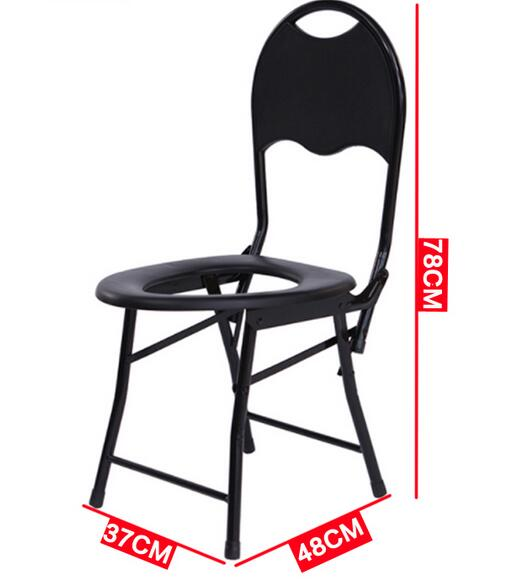 Handicapped Mobile Toilet Chair Non-Slip Folding Elderly Seat Pregnant Commode Shower Chair folding handicapped bath chair disabled toilet potty chair height adjustable elderly seat commode chair