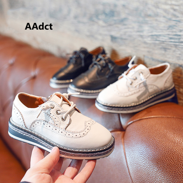 AAdct boys shoes 2019 new casual children shoes Genuine leather little kids shoes for girls spring autumn Brand High-quality