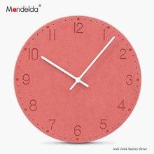Mandelda Modern Creative Digital Muslim Prayer Time Wall Clock Waterproof Quartz Silent Wooden Round White Home Decor Watches