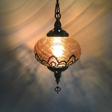 Najnowszy trend turcja etniczne zwyczaje Hollow rzeźba lampa romantyczna kawiarnia restauracja/bar zawieszki choinkowe światło opływowe oświetlenie szklane