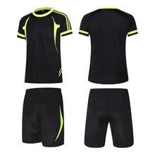 Shorts EU Men Football-Sets Soccer-Sportswear Tracksuit Breathable Summer