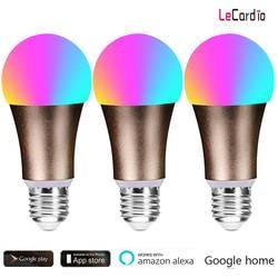 3 сумка для ПК продать RGBW подсветка умного Wi-Fi лампочки 7 W E27 B22 умный дом этап лампы Цвет Совместимость с Alexa google дома