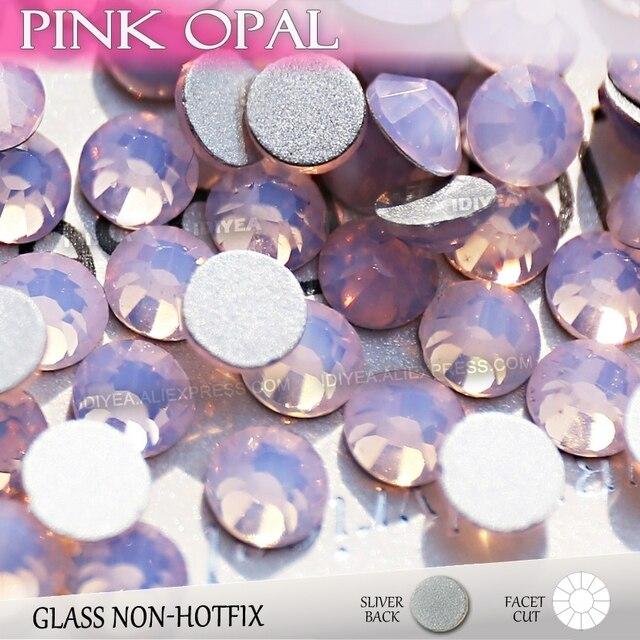 Pink Opal SS3 SS4 SS5 SS6 SS10 SS20 SS30 for Nail Art Rhinestones Glitter  Crystal Fashion DIY Non HotFix Flat Back stone strass 50cec09cf981