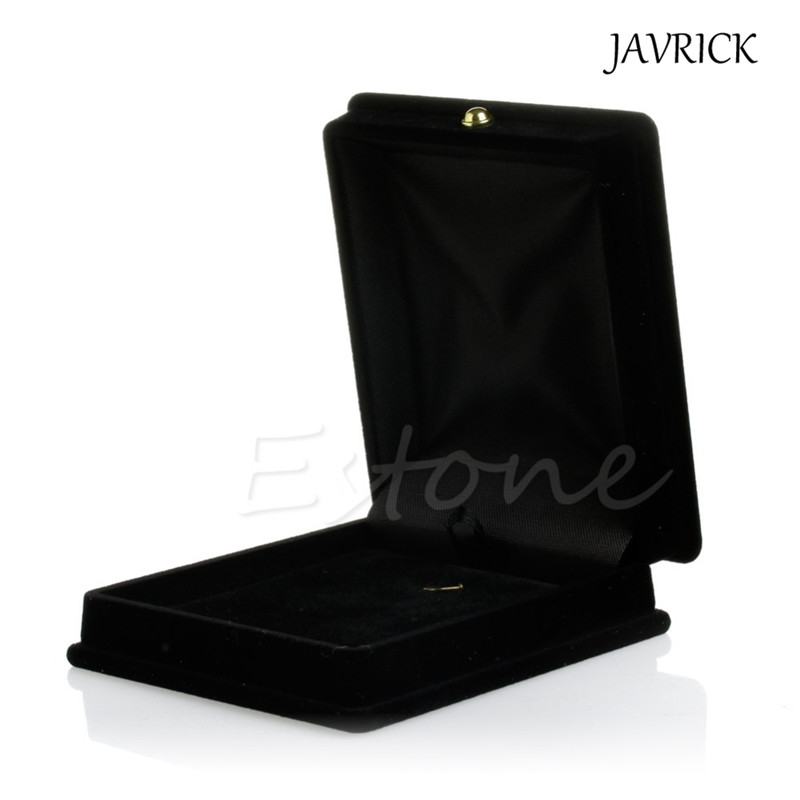 JAVRICK Engagement Black Velvet Necklace Jewelry Display Gift Box Ring Bracelet Storage Case Black Valentine's Day Gift цена
