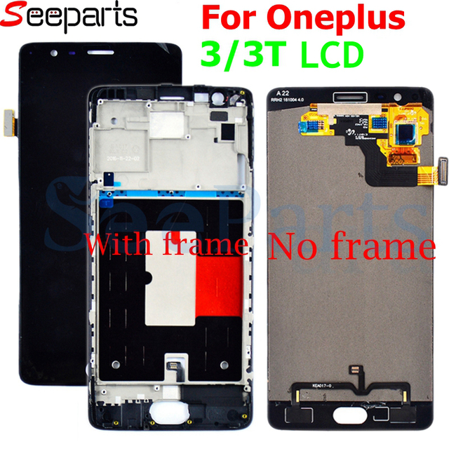 Oneplus 3 Lcd Screen Oneplus 3T Display Screen Tested Screen With Frame Replacement For Oneplus 3T A3010 A3000 A3003 5.5 inch