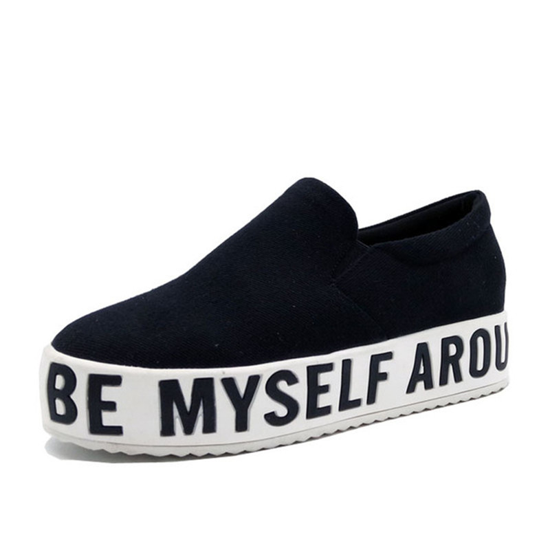 Feiyitu forme Chaussures 42 Slip Femme Creepers Femmes 2018 Sur De blanc Noir Plate Casual Mocassins Toile rouge Mode Taille Appartements Les Pour 34 rHwYn0rAx