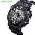 Мода очень крутой мужские кварцевые из светодиодов цифровой аналоговые часы мужчин спортивные часы санда люксовый бренд военные водонепроницаемые наручные часы
