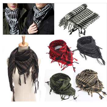 Outdoor Sport Hiking Head Scarves Military Arab Tactical Desert Scarf Army Shemagh With Tassel For Men Women Climbing Neck Wrap aa shield camo tactical scarf outdoor military neckerchief forest hunting army kaffiyeh scarf light weight shemagh woodland