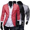 Novos homens Elegantes Casuais Slim Fit Dois Botões Suit Blazer Casaco Topos jaqueta Ternos Sob Medida Terno dos homens Ternos Blazer Para Os Homens MC090