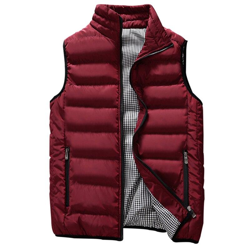 Brand men Vest 2019 Spring Male Waistcoat Slim Fit sleeveless jacket Autumn casual vest man plus size S- 5XL dropshipping