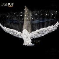 Новый Дизайн Роскошные Современные хрустальные люстры свет люстры Eagles зал cristal лампы дома Освещение для потолочного светильника