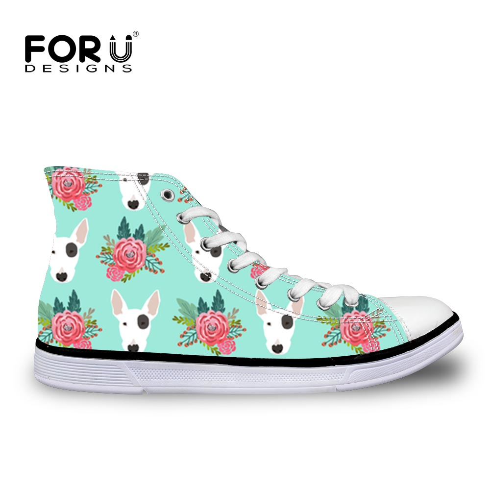 FORUDESIGNS Sport Shoes Brand Sneakers Bull Terrier Animal Printed Kids Girls&Boys Children Shoe Canvas Antislip Running Outdoor ...