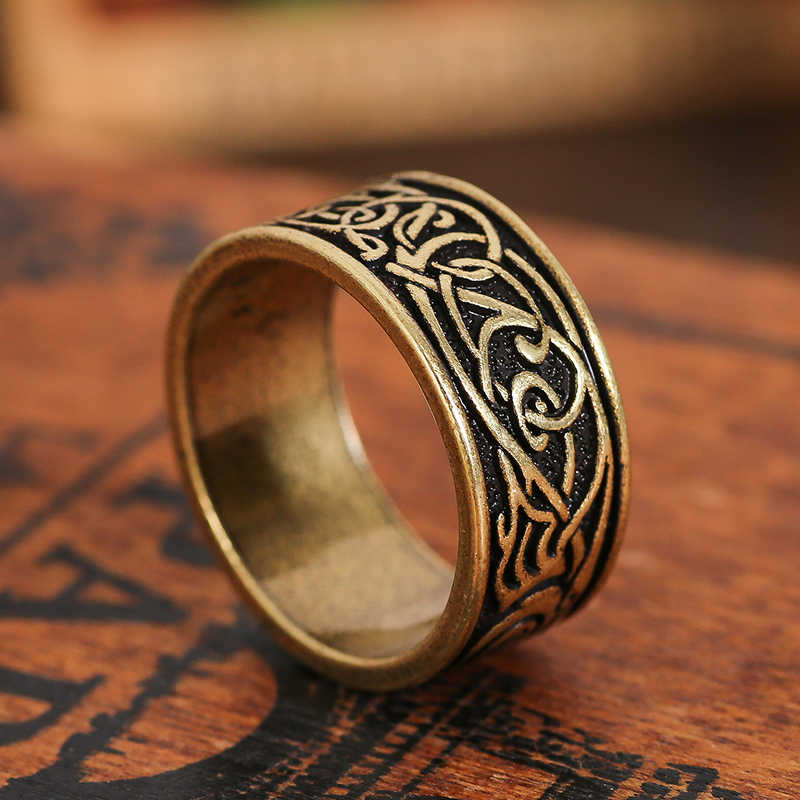 Viking Ring  Dragon symbol Men's Retro Style Scandinavian Norse Jewelry 1pc drop shipping