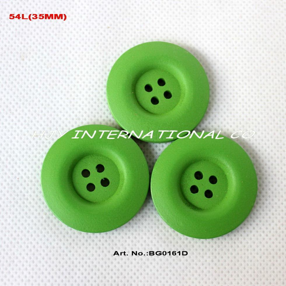 Bulk buttons for crafts -  50pcs Lot 35mm 4 Holes Green Color Wooden Buttons Crafts Necklace Toy Sewing