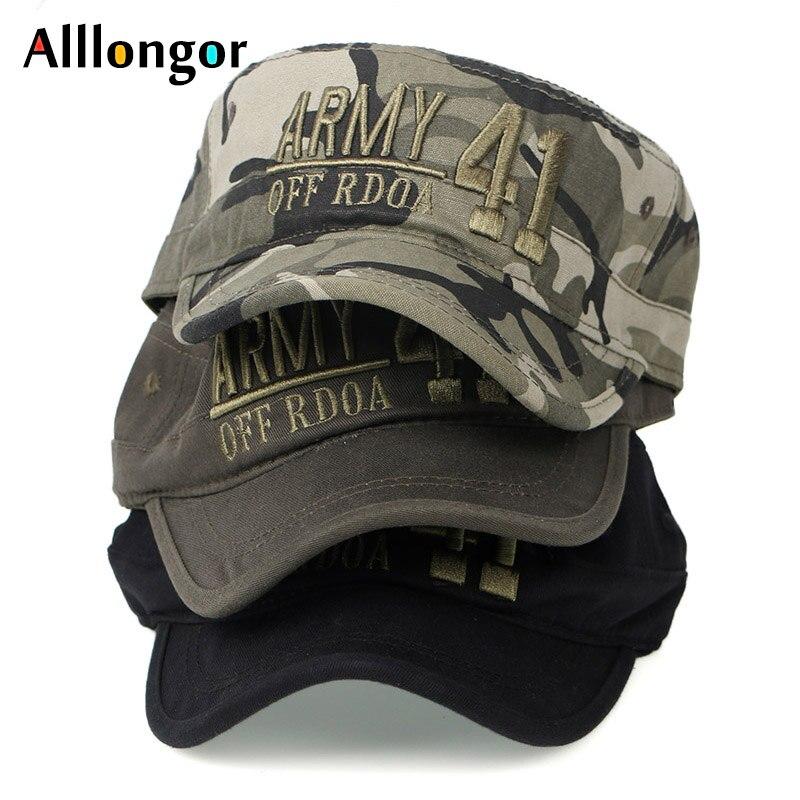 Sommer Hut 2019 Militär Hüte Armee Männer Kappe Camouflage 41 Brief Drucken Stickerei Design Gorra Hombre Snapback Marineblau Militär Kopfbedeckungen Für Herren