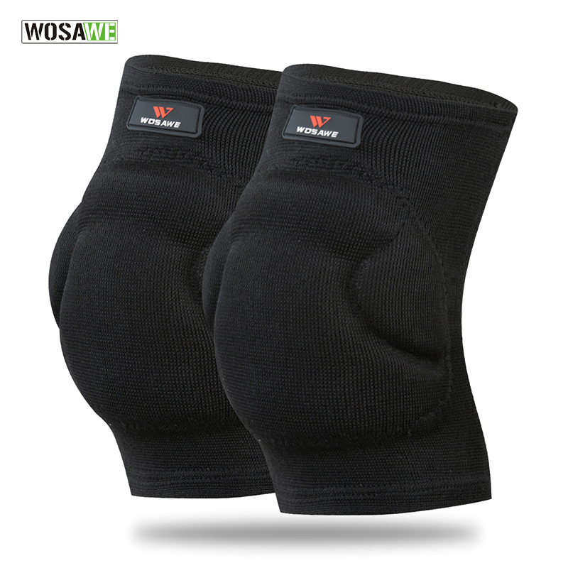 WOSAWE Knee Protector Basketball Volleyball Extreme Sports Kneepads Brace Support Compression Pro Guard EVA Elbow Pads