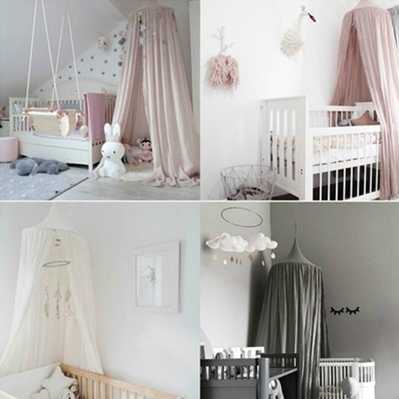 Lit à baldaquin moustiquaire moustiquaire bébé enfants lecture jouer tentes coton maison