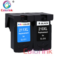ColoInk 2Pack PG 210 XL CL211 XL ink cartridges for Canon PG 210XL CL 211XL for Pixma IP2700 IP2702 MP240 MP250 MP260 MP270