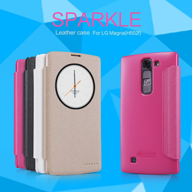 Original NILLKIN Sparkle Leather Case for LG Magna G4c H522Y H502f H500F H525N Registered Air Mail