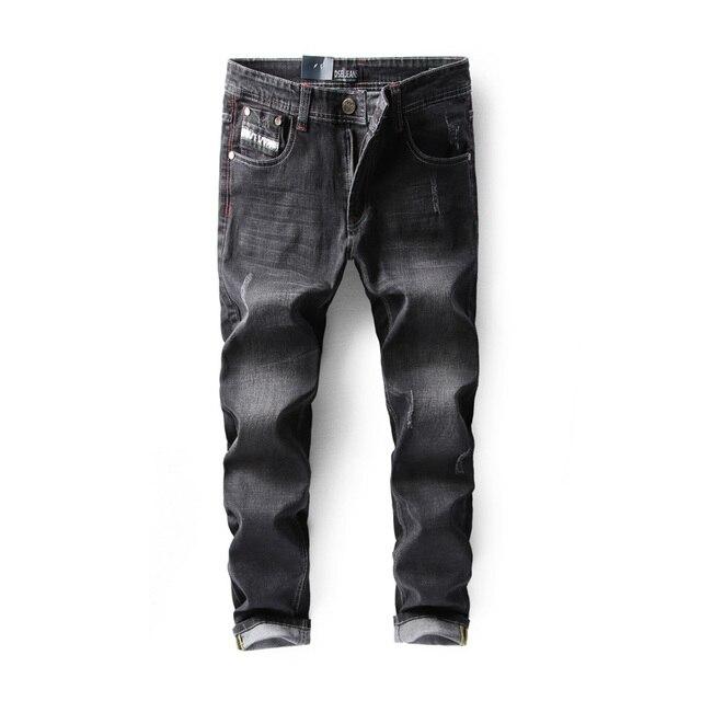 8d349cf15 Italiano Homens De Designer de Moda Calça Jeans de Cor Azul Do Vintage Retro  Lavagem Slim