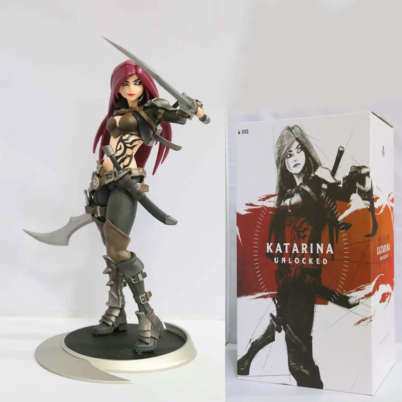 Katarina figma Big Chest Toy Sinister Blade Caitlyn Sheriff Piltover sniper artillery GAME PVC Figures Collectible model Doll lucky john croco spoon big game mission 24гр 004