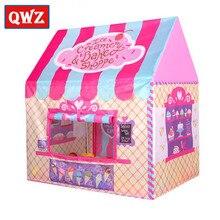 QWZ ילדים צעצועי אוהלי ילדים לשחק אוהל ילד ילדה נסיכת טירה מקורה חיצוני ילדים בית לשחק כדור בור בריכת תיאטרון לילדים מתנה
