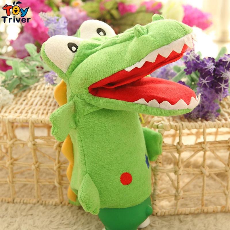 35см плюшени крокодил ръце кукли кукла играчки родител-дете интерактивни игри рожден ден коледни подаръци присъства за бебето деца Triver