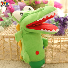 35cm Plush Crocodile Hand Puppets Doll Toys Parent-child Interactive Games Birthday Christmas Gifts Present For Baby Kids Triver