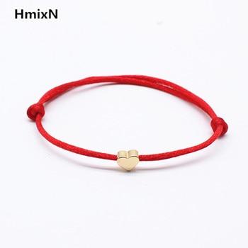 2019 new Lucky Heart star Bracelet For Women Children Red color Rope String Adjustable Handmade Bracelet Jewelry simple Bracelet