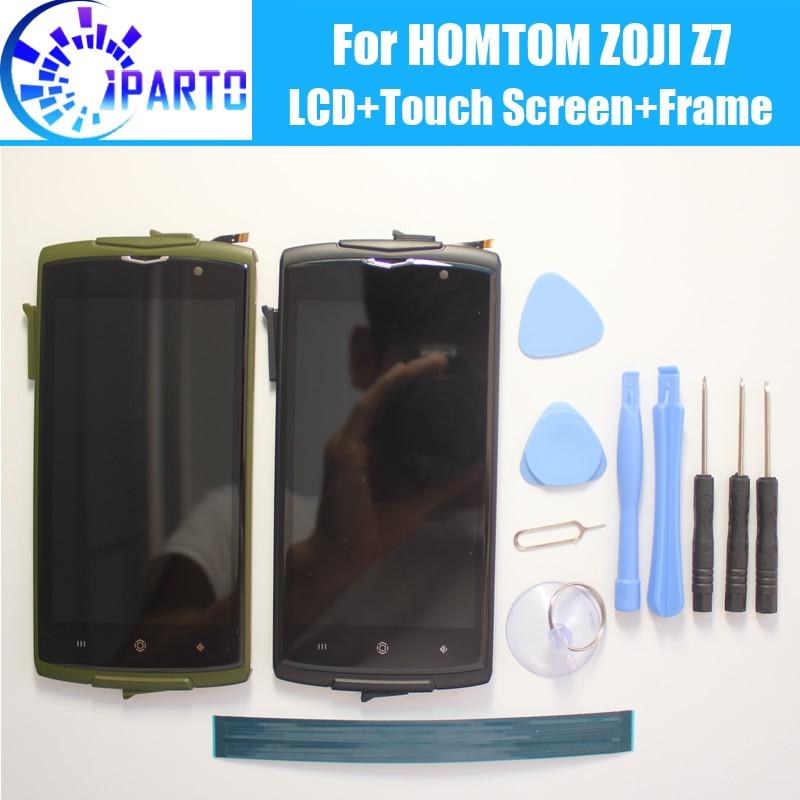 HOMTOM ZOJI Z7 Écran lcd + Écran Tactile + Cadre Assemblée 100% Original LCD Digitizer Panneau de Verre Pour HOMTOM ZOJI z7 + Outils