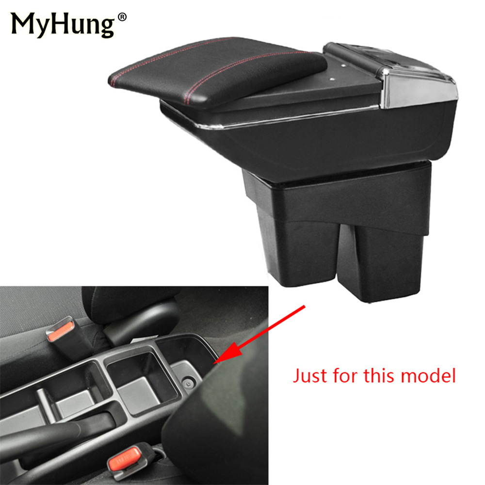 Car Console Armrest Box For Honda Fit Jazz 2014 2015 2016 2017 2018 Central Storage Box With Cup Holder Ashtray Rotatable parts qcbxyyxh case for honda fit jazz 2014 2018 2nd generation armrest box central store content storage box with cup holder ashtray