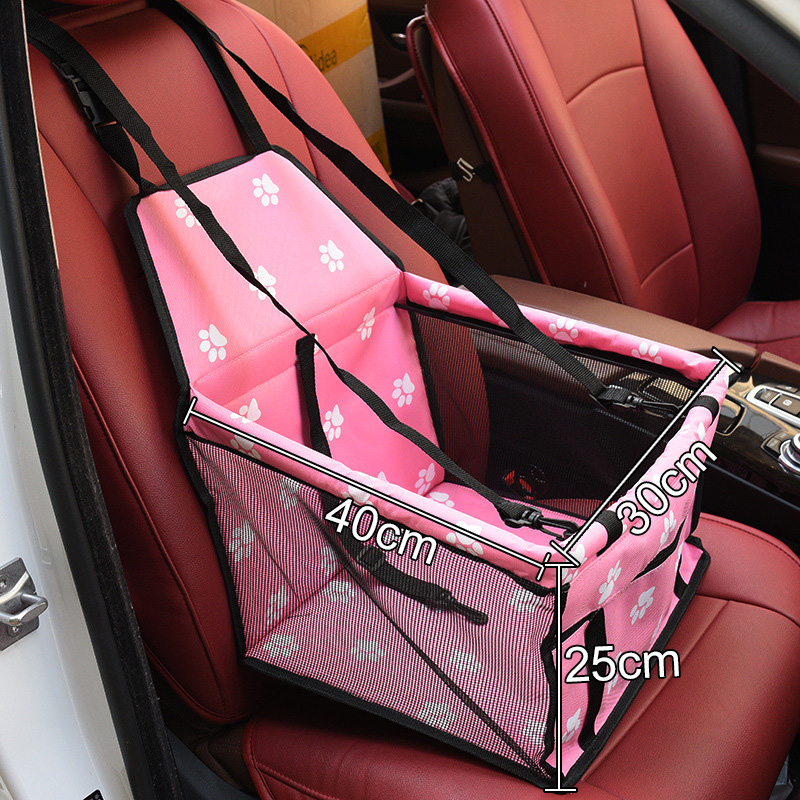 Folding Dog Seat Cover With Adjustable Buckle Design Suitable for All Cars 5