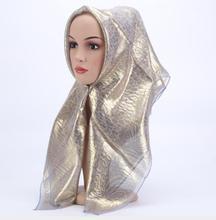 2018 fashion square hijab Islamic womens hijabs Hot stamping Muslim female vintage headscarf Hijab 85x85cm