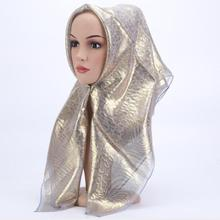 2018 fashion square hijab Islamic women's hijabs Hot stamping Muslim female vintage headscarf Hijab 85x85cm