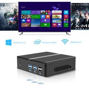 Image 2 - OLOEY Fanless Mini PC Intel Pentium 3805U Windows 10 8GB RAM 120GB SSD 300Mbps WiFi Gigabit Ethernet HDMI VGA 6*USB Nettop