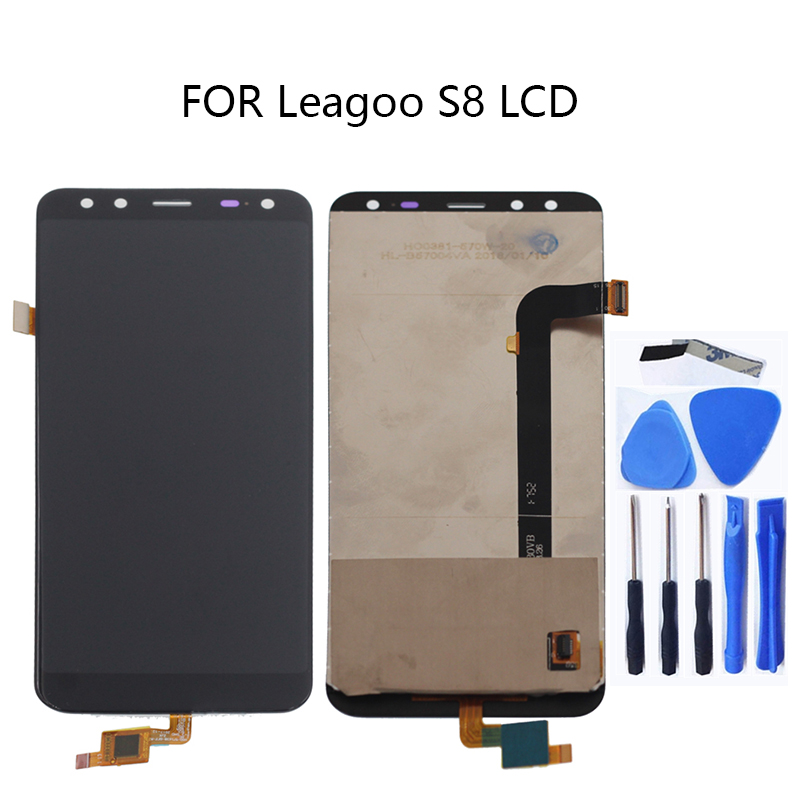 100% tested for Leagoo S8 LCD + touch screen digitizer repair kit replacement glass panel sensor strip