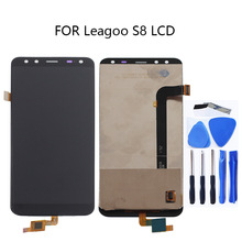 100% tested for Leagoo S8 LCD + touch screen digitizer repair kit for Leagoo S8 LCD replacement glass panel sensor strip