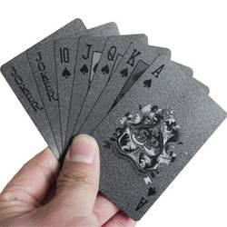 Черный покерной колоды Пластик игральные карты настольные игры Speelkaarten Пластик карты