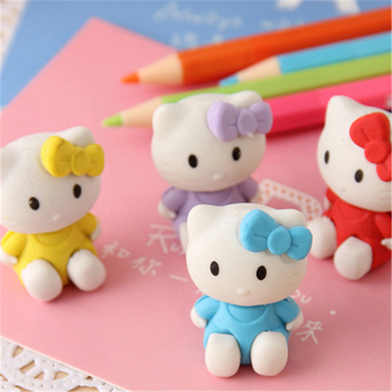 DL SY08 Korean Version Of Stationery Lovely Modeling Hellokitty Cat Eraser Stationery Office Supplies For Students