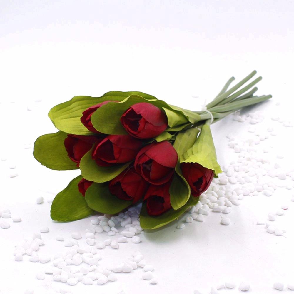 Mẫu hoa Tulip giả M-172 màu đỏ