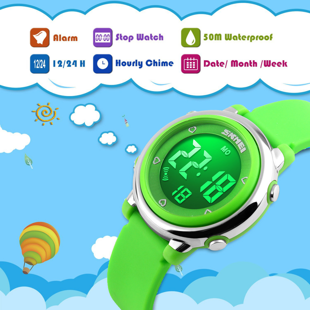 Imported From Abroad Fashion Ohsen Digital Lcd Kids Boys Wristwatch Rubber Band 50m Waterproof Swim Child Alarm Sports Watches Relojoes Birthday Gift Men's Watches Digital Watches