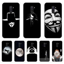 Xiaomi Pocophone F1 Case,Silicon Black graffiti Painting Soft TPU Back