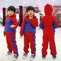 Комикс зима толще паук спорт костюм дети мальчики одежда комплект человек - паук костюм