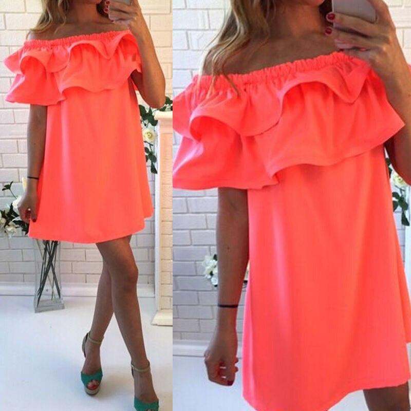 Sexy Women Summer Sleeveless Party Cocktail Short Mini Dress Beach Dress