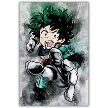 My Hero Academia Watercolor Abstract Wall Art Paint Wall Decor Canvas Prints Canvas Art Poster Oil Paintings Picture No Frame