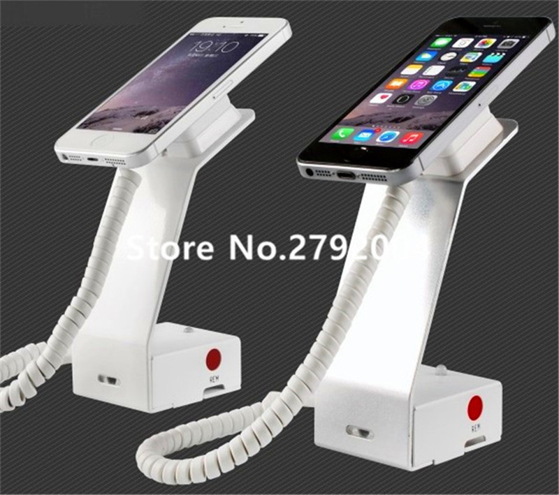 10pcs/lot magnet security display stand with adhesive cell phone anti theft Alarm Security Devices for huawei samsung / iphone wholesale price mobile phone anti theft alarm display stand with charging for exhibition