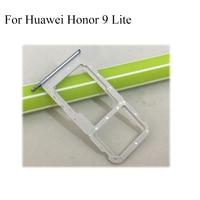 2PCS Black Gray Original For Huawei honor 9 lite honor9lite Nano Sim + Micro SD Card Tray Holder Slot Socket Replacement Parts