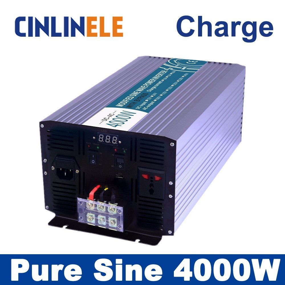 Universal inverter Charger 4000W Pure Sine Wave Inverter  CLP4000A DC 12V 24V 48V to AC 110V 220V 4000W Surge Power 8000W