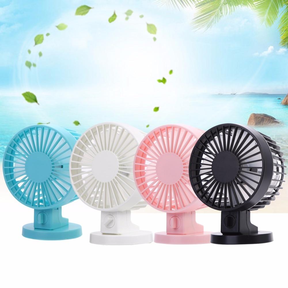 USB Charging Portable Handheld Electric Fan Air Conditioner Cooler Cooling Fan Summer Desk Table Cooling Fans Blue Pink